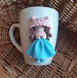 Mug with decor