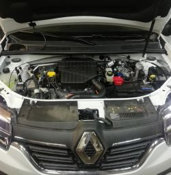 Gas on Renault Logan installation of HBO 4th generation
