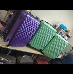 Νέες αντιανεμικές βαλίτσες ABS πλαστικό 11 χρωμάτων