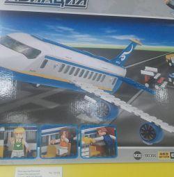 Конструктор блочный Самолет 463дет