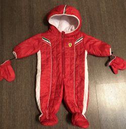 Salopete pentru 9-12 luni Ferrari