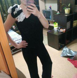 Overalls evening dress