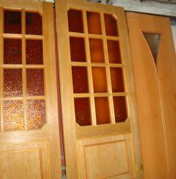 двери массив дерево стекло 60х190 80х190