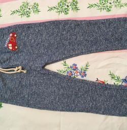 Нові штани трикотаж бавовна довжина 70см