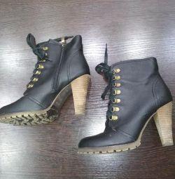 Η Demi μπότες γνήσιο δέρμα