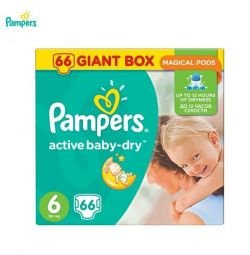 Box Pampers 66 pcs PAMPERS 6 (15kg +)