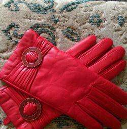 Γάντια δέρματος 100% χειμώνα