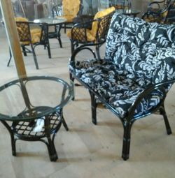 Canapea + masă (rattan)