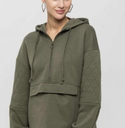 New sweatshirt with quilted sleeves Sela