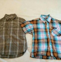 Рубашки на 4 - 5 лет