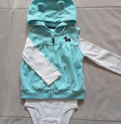 Package - vest and body (3 pcs.) Carters for 24 months.