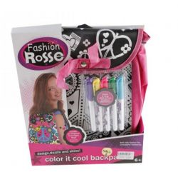 Рюкзак-раскраска фломастеры Fashion Rosse JX20195
