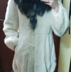 Шуба норковая белая