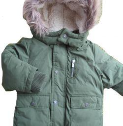 Αγόρι 18-24 μηνών παλτό χειμώνα μπουφάν