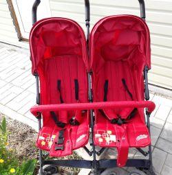 Cane Twin cărucior pentru copii