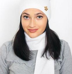 Новая шапка + шарф новые