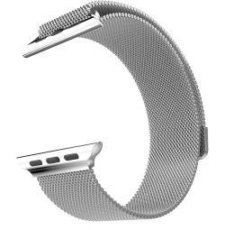 Ремешок для Apple Watch 42 мм Миланская петля хром