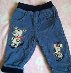 Утепленные вильветотвые джинсы Глория джинс
