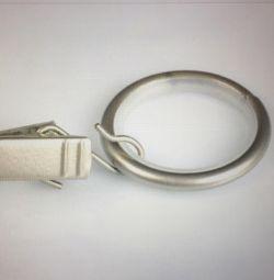 Кольца с металлическими зажимами для штор. Обмен.