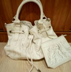 New. Bag + Cosmetic Bag