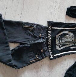 Ζεστά παντελόνια και μπλούζες 128-134