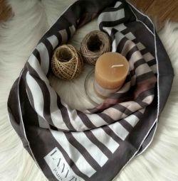 Brand silk silk scarf