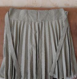 Skirt pleating