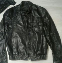 Куртка кожзам мужская