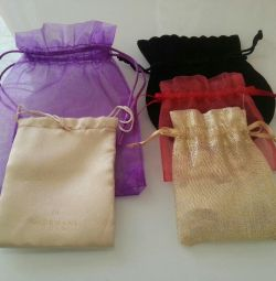 Bags for packing gifts, decorations.