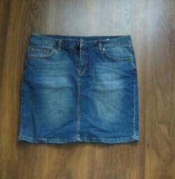 Джинсовые юбки размер 46-48