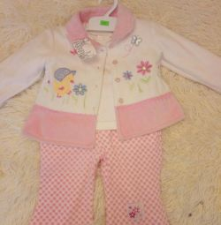 New suit for girl 3-7 months
