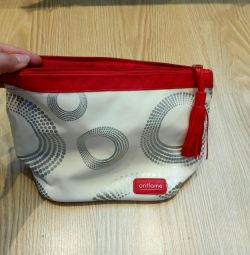 Cosmetic bag with brush