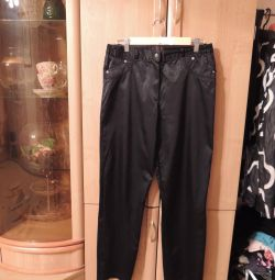 Pants from dense satin fabric Style