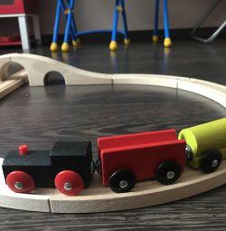 Ahşap demiryolu tren ikea