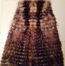 Fur coat - vest