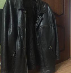 Куртка шкіряна напівпальто