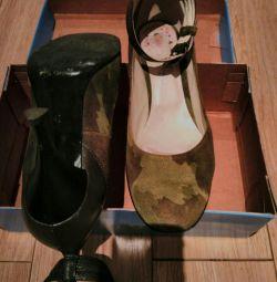 Туфли замша с кожей