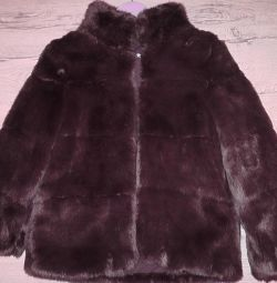 Zara fur coat from faux fur