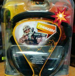 Навушники ігрові commando