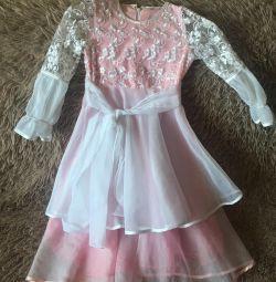 Dress on the girl festive