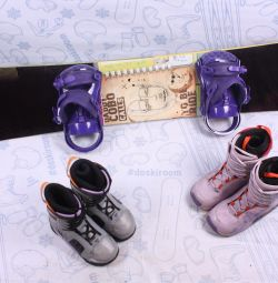 Сноуборд Atom 154 см + крепления + ботинки