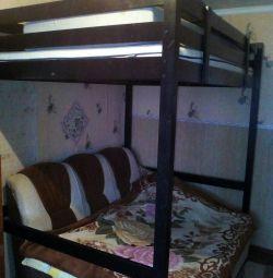Κρεβάτι σοφίτα δρυς.