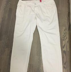 Jeans alb 54-56 r