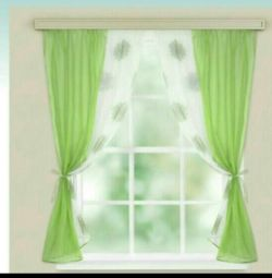 A set of curtains for the kitchen