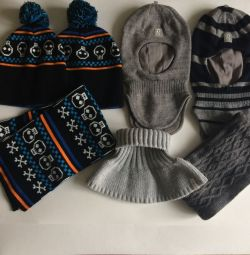 Winter hats for a boy, size. 48-50