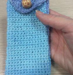 Acoperă telefonul tricotat