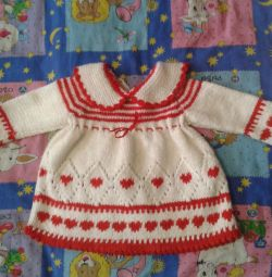 Knitted dress for 1-2 years, choir comp.