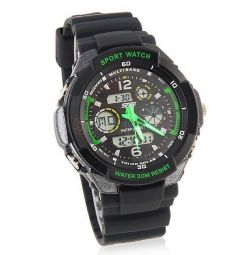 Sports in stock black and green