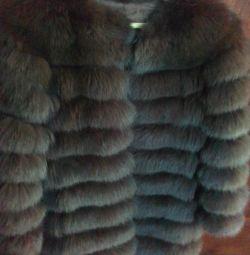 Fur coat Arctic fox transformer