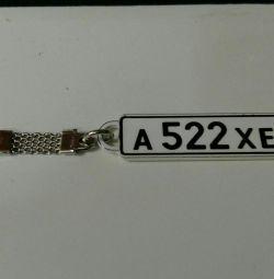 Devlet numarasına sahip anahtarlık